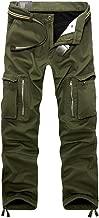 OCHENTA Men's Outdoor Fleece Lined Casual Military Work Cargo Pants