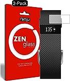 ZenGlass [2 Stück Flexible Glas-Folie kompatibel mit Fitbit Charge/Charge HR Panzerfolie I Bildschirm-Schutzfolie 9H