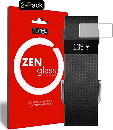 nandu I ZenGlass [2 Pezzi] Pellicola Protettiva in Vetro Compatibile con Fitbit Charge/Charge HR I Protezione Schermo 9H