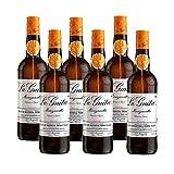 Vino Manzanilla la Guita de 75 cl - D.O. Manzanilla Sanlucar de Barrameda - Bodegas Grupo Estevez (Pack de 6 botellas)