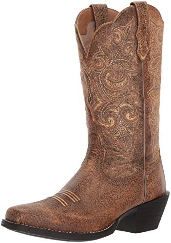 Ariat Women's Round up Square Toe Work Boot, Vintage Bomber, 11 B US