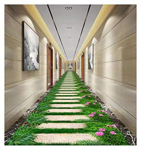 ditan XIAWU 3D Korridor Teppich Schlafzimmer Wohnzimmer rutschfest Kann Geschnitten Werden Eingang (Color : Green, Size : 100x100cm)