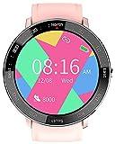 YGMDSL Herren Smart Watch Fitness Tracker Gesundheit Aktivität Tracker Sport Herzfrequenz Blutdruck Monitor Fitness Männer Frauen Smartwatch Bluetooth Für Android Ios (Pink)