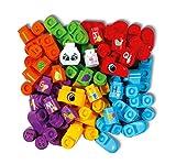 VTech- Pack DE 50 Blocs Bla Blocks Jouet Premier Age, Construction, 80-608705, Multicolore