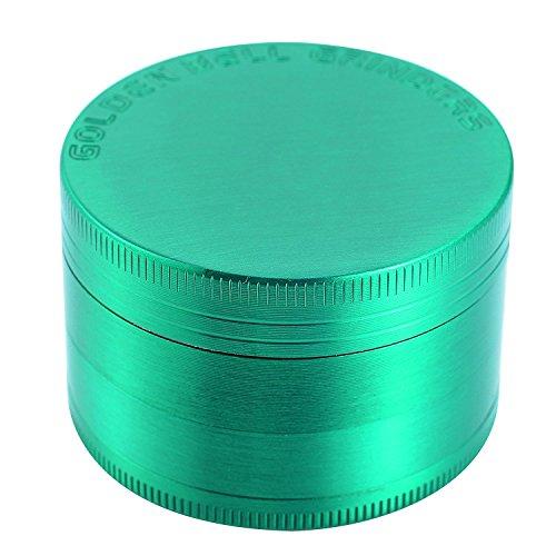 LIHAO Pollen Grinder Crusher für Spice,Kräuter,Gewürze,Herb,Kaffee 4-teiliges Set mit Pollen Scraper (Grün)