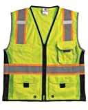 ML Kishigo - 1513 3X 1513 Ultra-Cool Polyester Black Series Heavy Duty Vest, 3X-Large, Lime