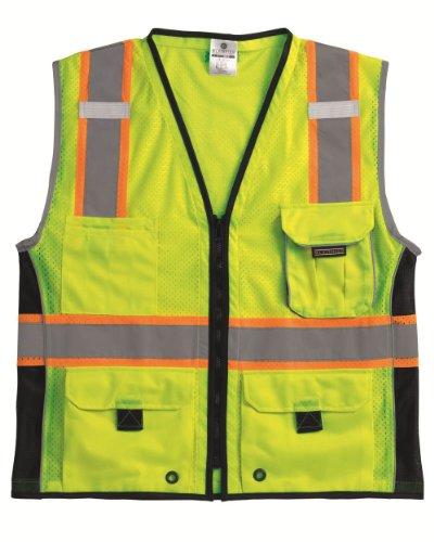 ML Kishigo 1513 Ultra-Cool Polyester Black Series Heavy Duty Vest, 5X-Large, Lime
