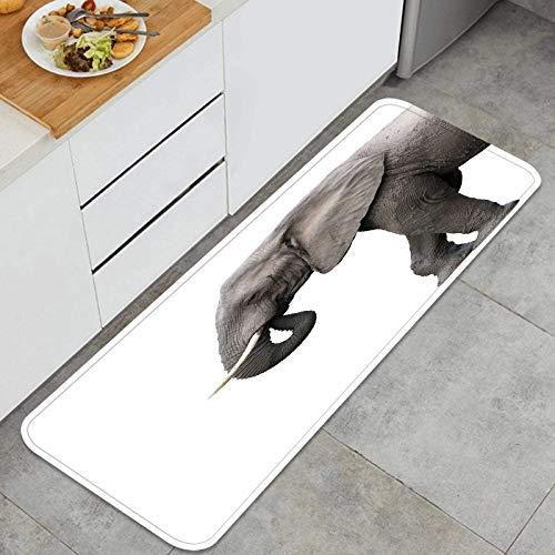 ZHIMI Multiuso Tappeti Cucina,Elefante Isolato su Sfondo Bianco,Antiscivolo Tappeti per Cucina Lavabile Tappeti Bagno Zerbino Tappeto 45 x 120cm