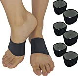 Plantar Fasciitis Brace Arch Supports - Arch Brace for Foot & Heel Pain Relief. Compression Sleeves Help Sore Heels, Bone Spurs, Flat Feet or High Arches Copper Infused Bands Plantar Fasciitis Splint