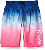 Hurley Boys' Big Pull On Board Shorts, Blue/Pink Ombre, L
