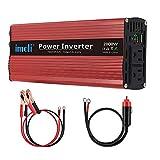 imoli 2000W Power Inverter, DC to AC 12V to 110V/120V, 4000W (Peak) Car Converter Automotive Modified Sine Wave Type with 2...