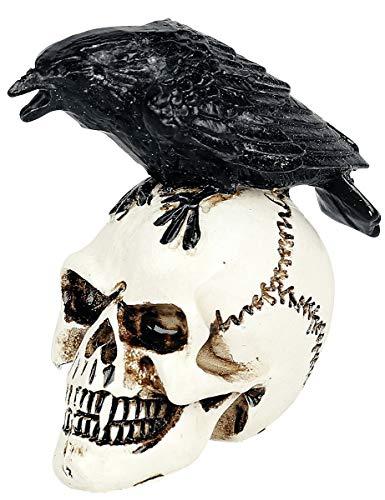 Alchemy England Raven Skull: Miniatur Schädel Unisex Totenkopf Standard Resin Gothic