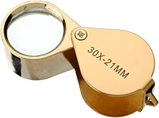 NaiseCore Gold - Lupa plegable para lupa, lupa, lupa de cristal, monedas de