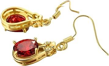 Crystal Earrings Women's Alloy Cubic Zirconia Drop Earrings Brass Gold Plated Earrings Hypoallergenic Earrings