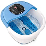 NURSAL Foot Spa Bath Massager with Heat, 11 Mini Massaging Rollers and...