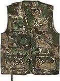 normani Outdoor Jagd- Angler Weste mit vielen praktischen Taschen? Farbe Hunting Camo Größe L