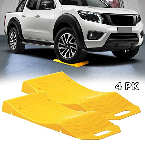 VaygWay Car Tire Saver Ramps – Tire Ramps for Storage – Flat Tire Prevention Flat Spot- Tire Cradle Vehicle Tire Ramp