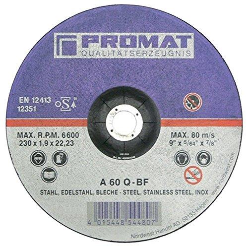 PROMAT Trennscheibe f.VA/Blech D.125x1mm S.1mm PROMAT Bohrung 22,23mm gerade