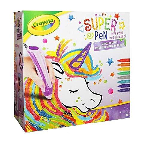 Crayola. Super Pen Effetti Metallizzati Disegno Artistico Playset Giocattolo