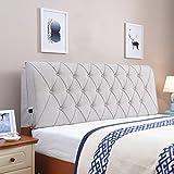Cojines MMM cabecera Continental Soft Case Cama Respaldo Grande Almohada No Head Cover Hotel Tela Arte Lavable (Color : Gris Claro, Tamaño : 120 * 60cm(Bedside))