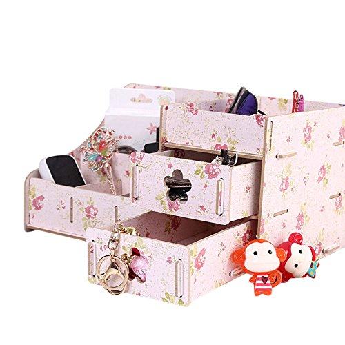 Jungen cosméticos caja para las niñas colección organizador para almacenamiento de joyería 15,2* 29* 18.7cm