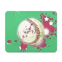 FengJu マウスパッド 光学マウス対応 個性的 おしゃれ 滑り止め ゴム製裏面 ゲームおよびオフィス用 Balls Baseball ボール 野球
