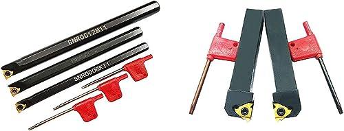 high quality ASZLBYM SNR0008K11 SNR0010K11 SNR0012M11 SER1616H16 SEL1616H16 Lathe Carbide 2021 Turning Tools Holder Set with 3PCS 11IR A60 2PCS 16ER/IR AG60 BP010 Indexable Carbide popular Turning Inserts sale