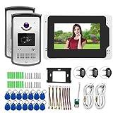 Timbre con video de 7 pulgadas, videoportero con cámara 1080P y 2 cámaras, para sistema doméstico Aprendizaje en(European regulations)
