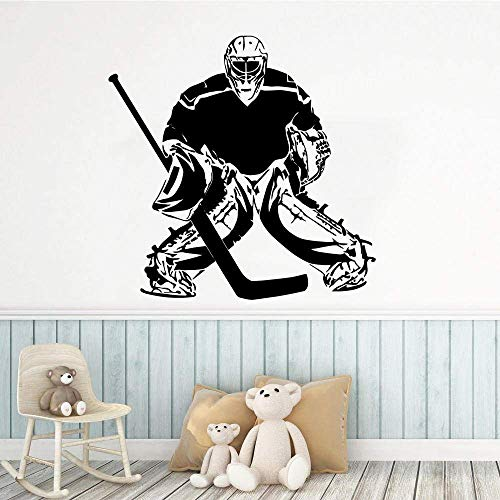 Moderne Sport Wandaufkleber Hot Ice Hockey Home Decor Vinyl Kunst Design Poster Wandbild Beauty Fashion Ornament Decals 57X57Cm