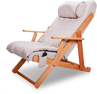 Folding Massage Chair - Massage Bed with Kneading Tapping & Vibrating & Heater & Vibration Massage Functions, in 3 Positions Adjustable Beige