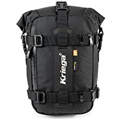 Guaranteed 100% waterproof roll-top closure main compartment. Universal-fit to any type of motorcycle. Mount inline or across the seat / rear rack. Easy to fit with quick-release hooks attaching to web loops secured to the bike's subframe. Side pocke...