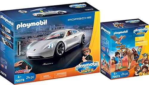 Playmobil® The Movie 2er Set 70072 70078 Marla mit Pferd + Rex Dasher\'s Porsche Mission E