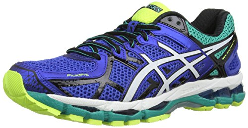 Asics Gel-Kayano 21, Scarpe sportive, Uomo, Blu (Blue/White/Flash Yellow 4701), 42.5
