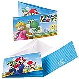 NET TOYS 8 Carte d´invito con Buste Super Mario...