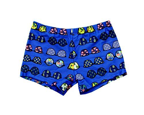 SOL Y PLAYA-Bañador Tiburón para niño Bañador Niños Boxer de Natación Traje de Baño (Shark Shark) Animales Mono ( Monkey ) Vida Marina pez ( Fish ) Tortuga Marina (Azul-4, 7-8años)