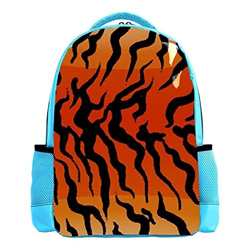 Gradiente tigre patrón impreso mochila escolar mochila mochila para niños, Multicolor 04,