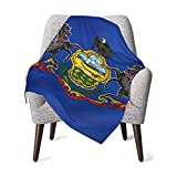 ベビー毛布 ブランケット ペンシルベニア手を振る旗。ペンシルベニア州旗 赤ちゃん 暖かい おしゃれ かわいい 通気 スリーパー 秋 冬 着る毛布 76cmX100cm
