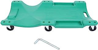 Floor Creeper, 38in Universal 2T Load Bearing Wheel Plastic Creeper Garage Repair Tool with Thick Foam Headrest