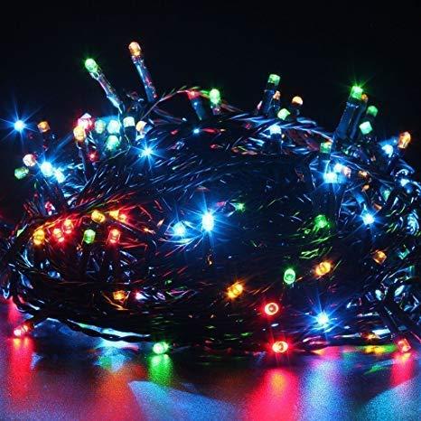 PESCA Diwali Decorative LED String Lights Serial Bulbs - Multi Color 25 Meter