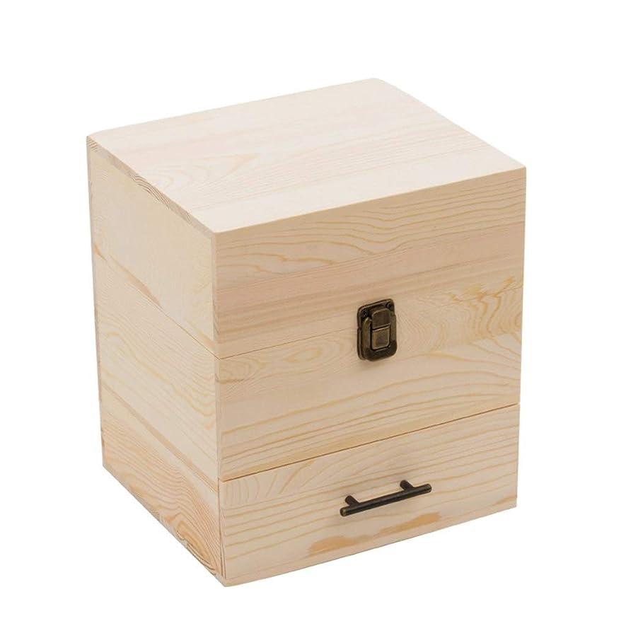 うつ仲良しコンチネンタル多層精油ラック精油ディスプレイ表示木製フレーム59グリッドオイル貯蔵ボックス大容量オイルラック (Color : Wood color, Size : 22.9*19*24.3cm)
