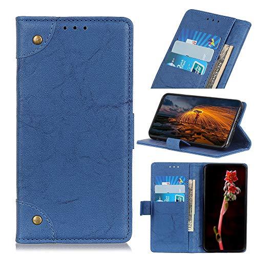 Snow Color Galaxy A70E Hülle, Premium Leder Tasche Flip Wallet Case [Standfunktion] [Kartenfächern] PU-Leder Schutzhülle Brieftasche Handyhülle für Samsung Galaxy A70E - COKZN040052 Blau