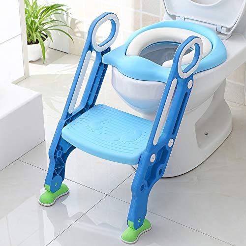 Keplin Toilettentrainer mit Trittschemel für Jungen und Mädchen