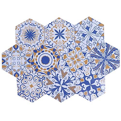 10 piezas PVC pegatina para azulejos patrón de flores pegatina para azulejos pegatinas de pared resistentes al desgaste resistentes al agua para el baño del hogar