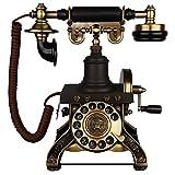 ZARTPMO Teléfono Antiguo Continental Retro Oficina en casa Línea Fija Dial Giratorio Sala de Estar Dormitorio Línea Fija