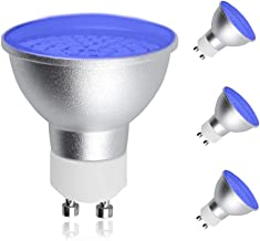 LED MR16 GU10 Light Bulb, Lustaled 5 Watts 120V GU10 Blue LED Spot Lights Bulbs, 120° Beam Angle 50W Halogen Replacement for Track Light Recessed Cans Path Lighting (3 Pack)