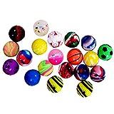Onepine 20PCS Balle Rebondissante Assorties Balles en Caoutchouc, Remplisseur De Sac De Soirée, Balles Bouncing Hautes(20 Pièces)