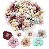 VINFUTUR 150 Stücke Künstliche Blumen Gänseblümchen Blütenköpfe Kunstblumen Blumenköpfe Bunt Mini Seidenblumen für Basteln Scrapbooking Hochzeit Party Home Deko - Zufällige Farbe