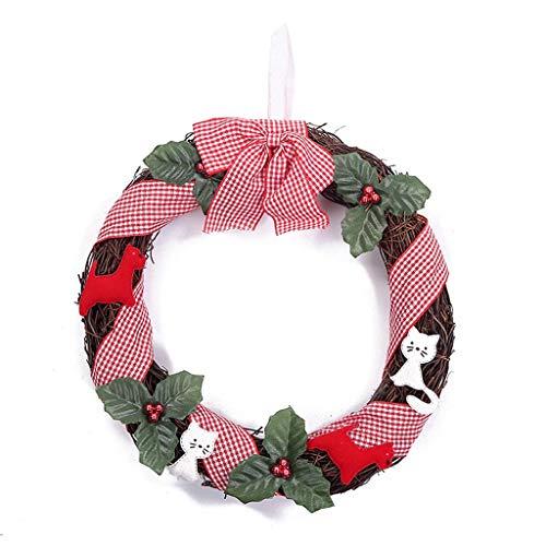 (2 stuks) Kroon van Kerstmis for Voordeur, 10 Inch Kerstkransen Window Deur van het Huis Kerstversieringen Winter Wonderland Decoraties