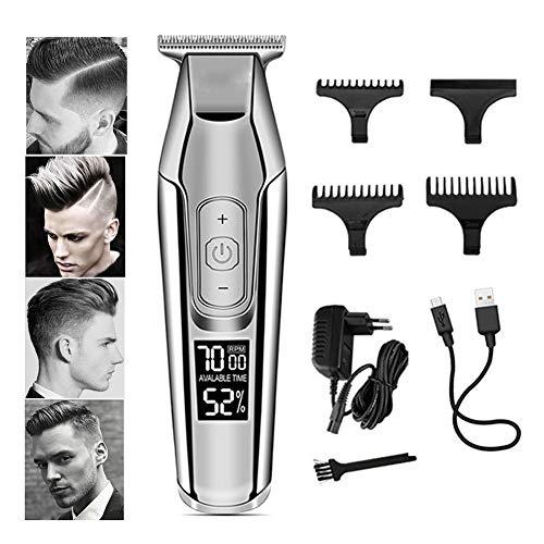 Profi Haarschneider,Professionelles Elektrischer Haarschneidemaschine Herren Haartrimmer Set LED-Bildschirm Mit KäMmen Und 4 Einstellbar Perfekter Haarschnitt