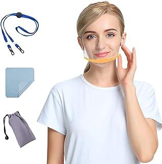 AIEOE 10 Viseras Protecciones Mujer Hombre Transparente Mostrar Sonrisa + 1 Bolsa de Almacenamiento + 1 Cuerda Antipérdida...